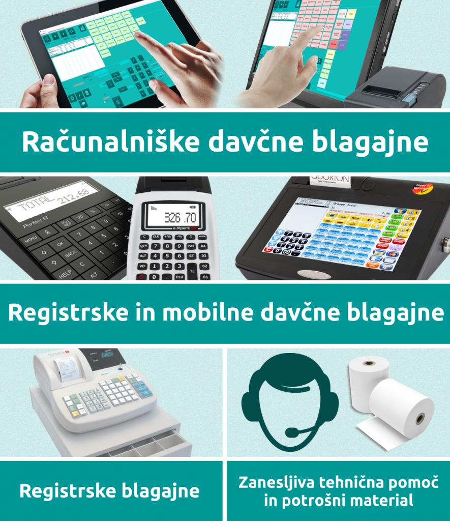Najem in prodaja računalniških, registrskih in mobilnih davčnih blagajn. Zanesljiva tehnična pomoč.