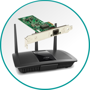 Mrežna oprema vrhunskih znamk. Routerji, switchi, mrežne kartice, brezžične dostopne točke, ipd.