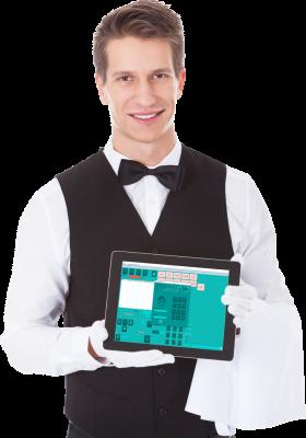 TGS gostinska blagajna in poslovanje. Pripravljena za uporabo na zaslonih na dotik oziroma vse v enem računalnikih in tablicah.