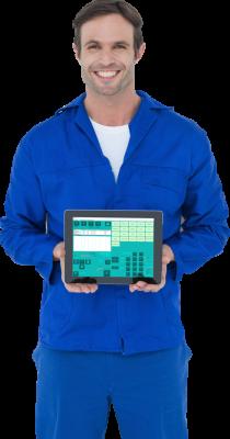 TGS Proizvodnja in servis - davčna blagajna in poslovanje. Program pripravljen za uporabo na zaslonih na dotik oziroma vse v enem računalnikih in tablicah.
